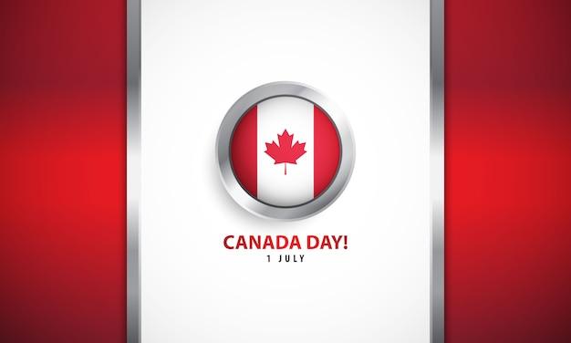 Dzień kanady z realistycznym tłem