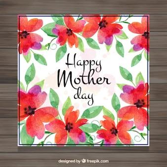 Dzień karta śliczne akwarela kwiaty matki