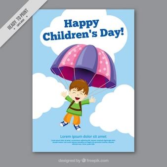 Dzień kartkę z życzeniami dla dzieci