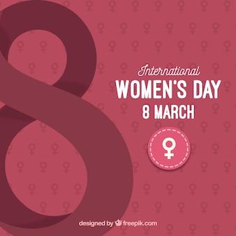 Dzień kobiet 8 marca płaskie tło
