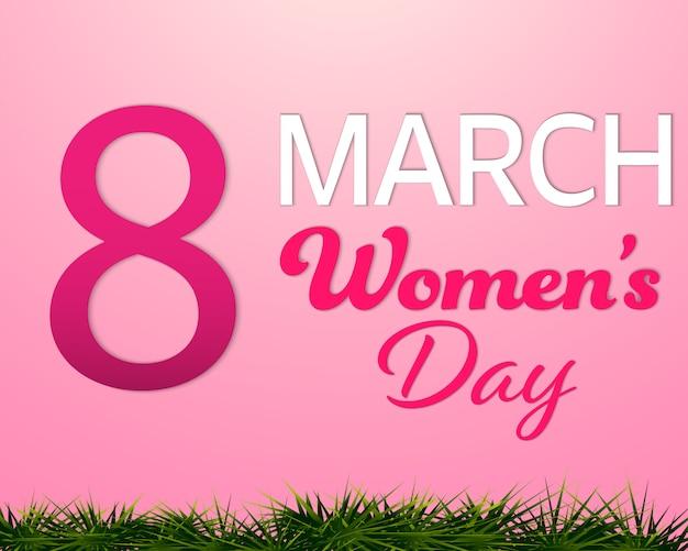 Dzień kobiet 8 marca różowe tło.