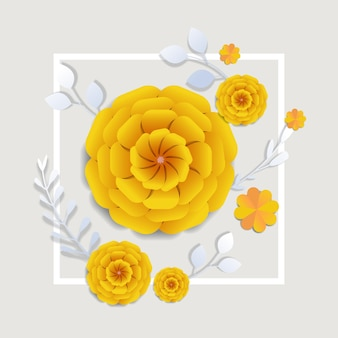 Dzień kobiet 8 marca święto święto ulotki transparent lub kartka z pozdrowieniami z ozdobnymi papierowymi kwiatami ilustracja renderowania 3d