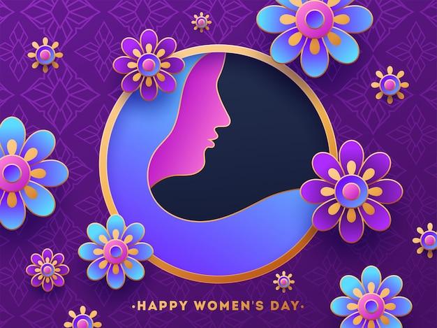 Dzień kobiet plakat lub projekt banera