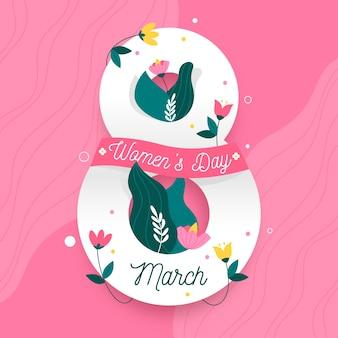 Dzień kobiet w kwiatowy wzór