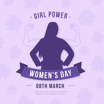 Dzień kobiet w płaskiej konstrukcji