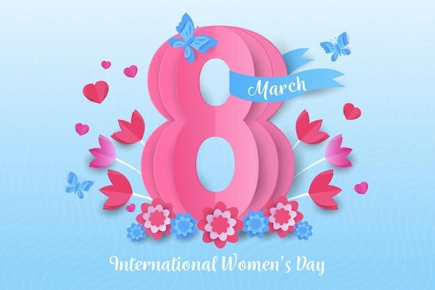 Dzień kobiet w stylu papierowym