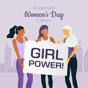 Dzień kobiet z siłą dziewczyny