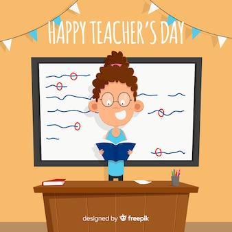 Dzień kreatywnych nauczycieli świata tła