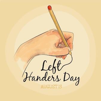Dzień leworęcznych kreatywność i pisanie