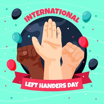 Dzień leworęcznych rękami