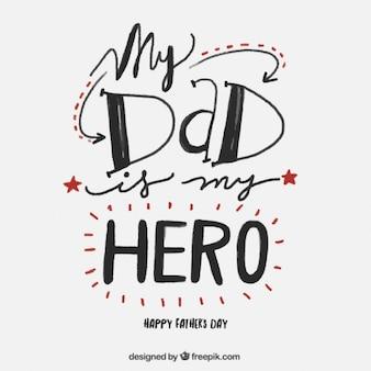 Dzień liternictwo śliczne ojca