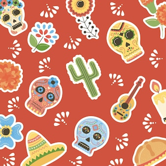 Dzień martwego meksykańskiego wzoru