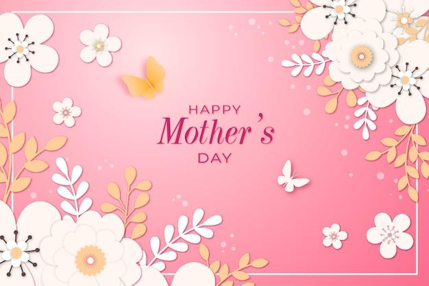 Dzień matki napis z kwiatami
