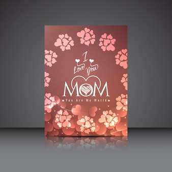 Dzień matki piękny projekt karty