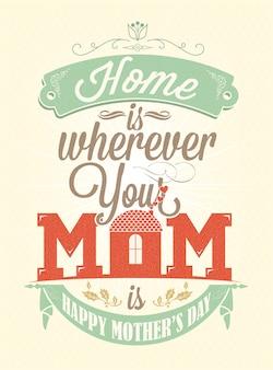 Dzień matki projekt plakatu