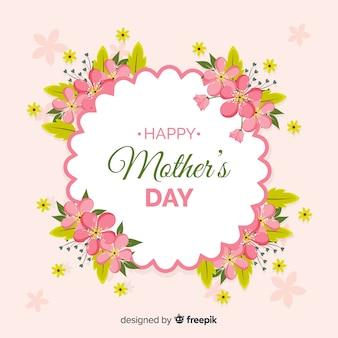 Dzień matki realistyczne kwiatowy tło ramki