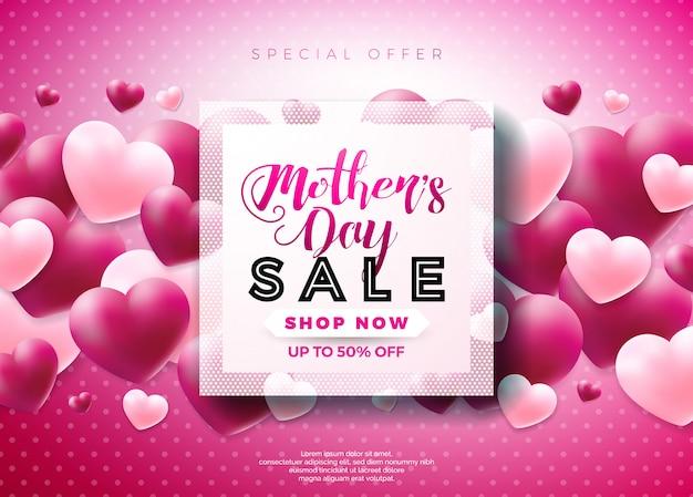 Dzień matki sprzedaż projekt karty z pozdrowieniami