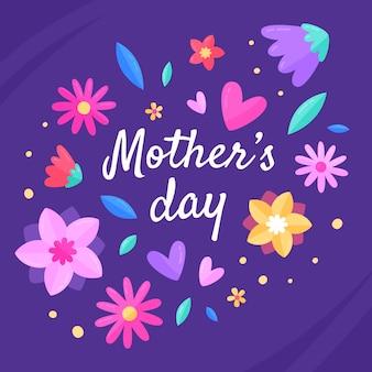 Dzień matki w stylu kwiatowym