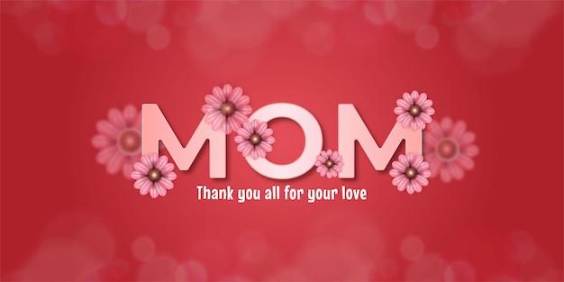 Dzień matki z kwiatami