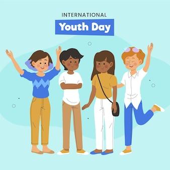 Dzień młodzieży z młodymi ludźmi
