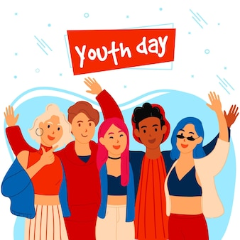 Dzień młodzieży z młodymi osobami