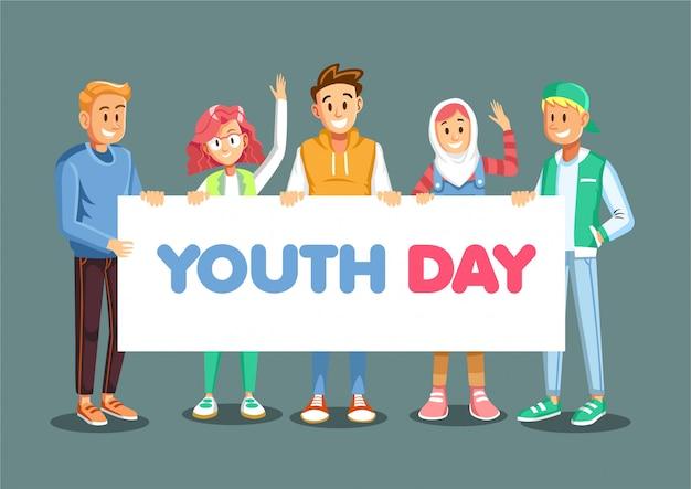 Dzień młodzieży z młodzieńca gospodarstwa znak