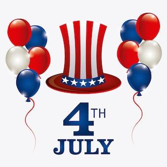 Dzień niepodległości 4 lipca projekt usa