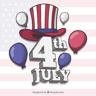 Dzień niepodległości 4 lipca tle