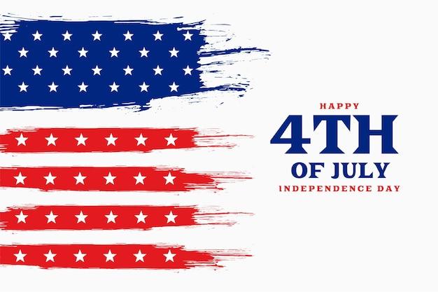 Dzień niepodległości 4 lipca w tle amerykańskim