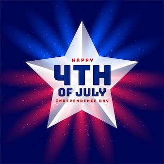 Dzień niepodległości 4 lipca w tle gwiazdy