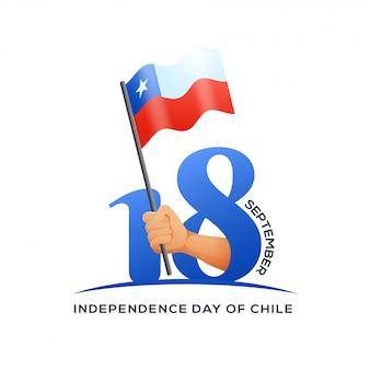 Dzień niepodległości chile tła projektu