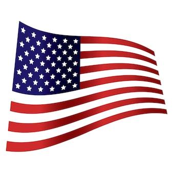Dzień niepodległości fala flagi amerykańskiej