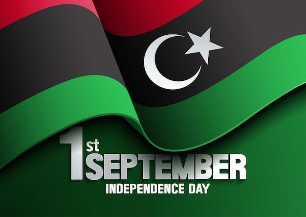 Dzień niepodległości flagi libii
