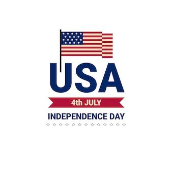 Dzień niepodległości flagi stanów zjednoczonych