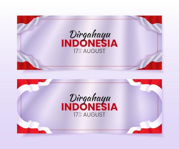 Dzień niepodległości indonezji 17 sierpnia banner tempate