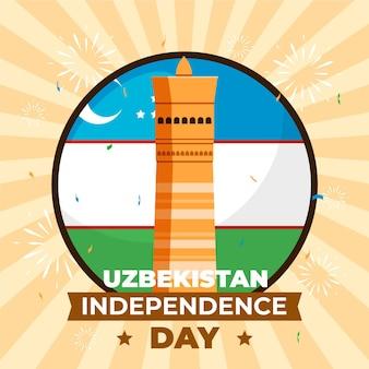 Dzień niepodległości koncepcji uzbekistanu