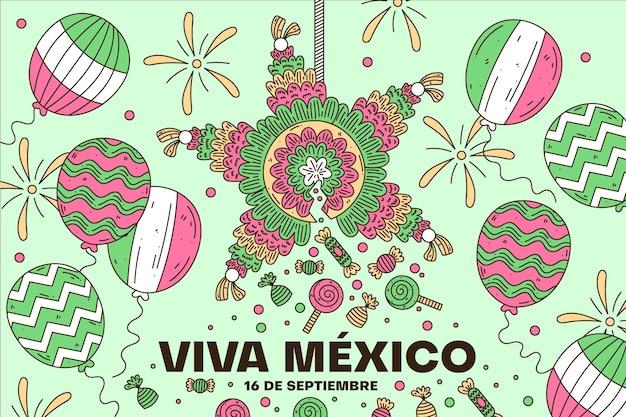 Dzień niepodległości meksyku balon tło