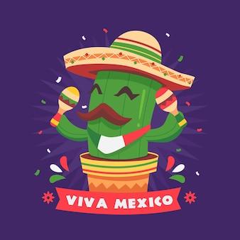 Dzień niepodległości meksyku banner