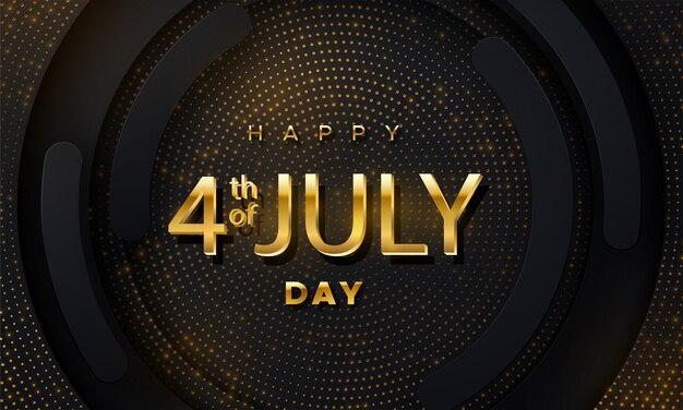 Dzień niepodległości stanów zjednoczonych ameryki. złote litery