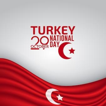 Dzień niepodległości turcji flaga tło wektor ilustracja