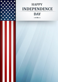 Dzień niepodległości usa. tło czwartego lipca z amerykańską flagą narodową.