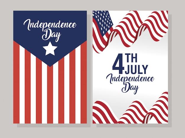 Dzień niepodległości usa z flagą