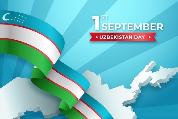 Dzień niepodległości uzbekistanu w tle