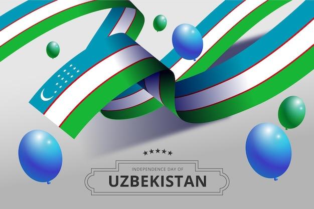 Dzień niepodległości uzbekistanu z balonami