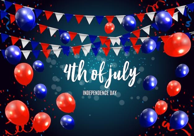 Dzień niepodległości w usa może być używany jako transparent lub plakat