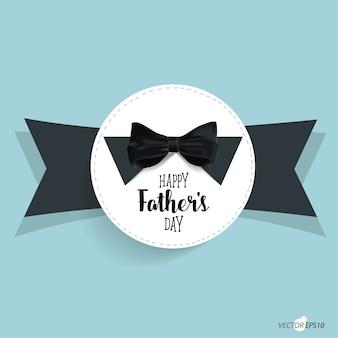 Dzień ojca i tło krawat dziobowy