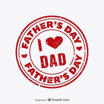 Dzień ojca pieczęć wektor
