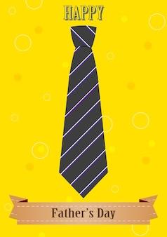 Dzień ojca streszczenie retro starodawny tło z krawatem i wstążką. projekt wektorowy