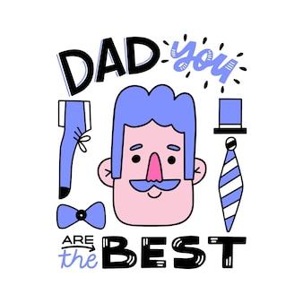 Dzień ojca z mężczyzną i krawatem