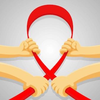 Dzień pomocy dłoni. światowy dzień zdrowia seksualnego w tle, płaski styl kreskówki